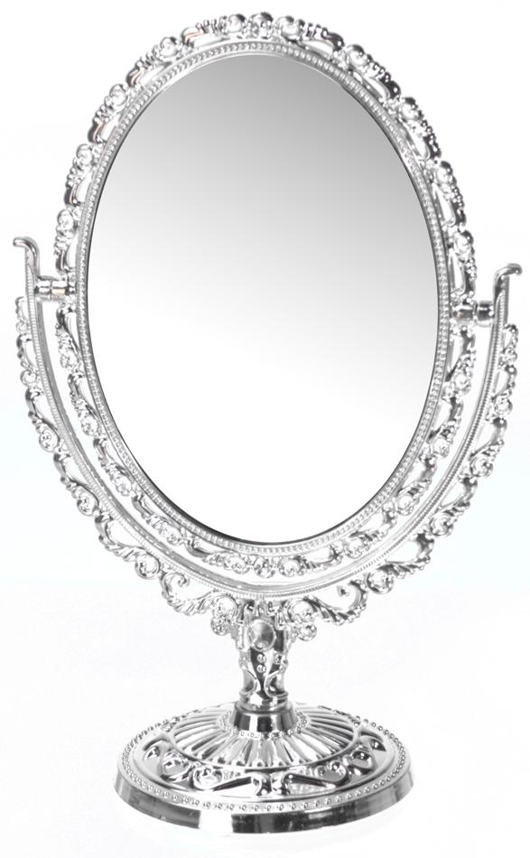 Strålande Spegel på fot silverfärgad plast · Zefin EW-06